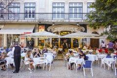 著名和专属咖啡馆Nicola在里斯本-里斯本-葡萄牙- 2017年6月17日 库存图片