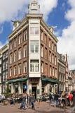 著名咖啡馆De Doelen在阿姆斯特丹,荷兰 库存图片