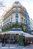 著名咖啡馆De Flore,巴黎,法国 库存图片