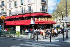 著名咖啡馆la Rotonde,巴黎,法国 免版税库存图片