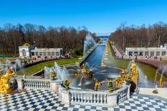 著名喷泉公园 库存图片