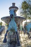 著名喷泉在斯科茨代尔亚利桑那 库存图片