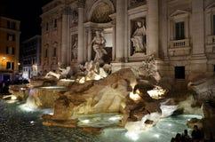 著名喷泉在罗马 免版税库存照片