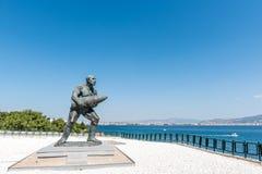 著名土耳其伍长, Seyit Cabuk雕象  库存图片