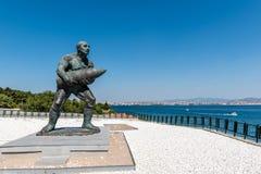 著名土耳其伍长, Seyit Cabuk雕象  库存照片