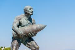 著名土耳其伍长, Seyit Cabuk雕象  图库摄影