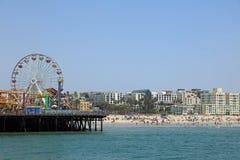 著名圣塔蒙尼卡码头在加利福尼亚 美国 免版税库存图片