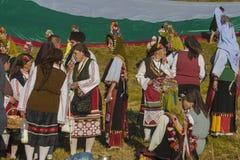 著名在保加利亚rozhen民间传说节日 库存图片