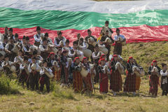 著名在保加利亚rozhen民间传说节日 免版税库存照片