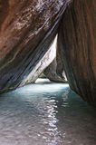 著名在维尔京Gorda,英属维尔京群岛的浴 免版税库存照片