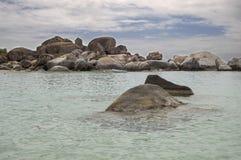 著名在维尔京Gorda,英属维尔京群岛的浴 库存图片