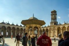 著名地方各种各样的旅游照片在开罗埃及 免版税库存照片