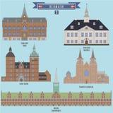 著名地方在丹麦 免版税库存图片