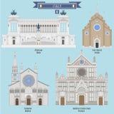 著名地方在意大利 免版税库存照片