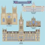 著名地方在英国 免版税库存照片