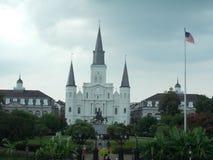 著名地标大教堂在新奥尔良 免版税库存图片