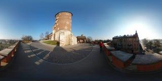 著名地标Wawel城堡 库存照片