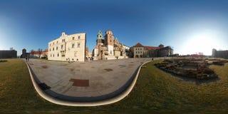 著名地标Wawel城堡 库存图片