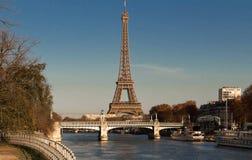 著名埃佛尔铁塔,巴黎,法国 免版税库存图片