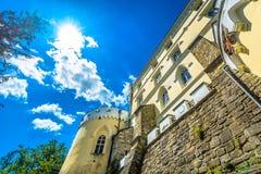 著名城堡在Zagorje, Trakoscan 图库摄影