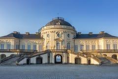 著名城堡孑然在斯图加特德国 免版税库存照片