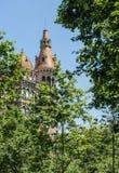 著名大厦在巴塞罗那 免版税库存图片