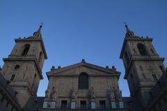 著名大教堂在埃斯科里亚尔。 免版税图库摄影