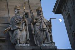 著名大教堂在埃斯科里亚尔。 免版税库存图片