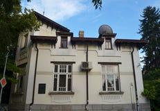 著名天文学家弗里茨Zwicki出生在这个房子里 他发现了中子星和神秘的物质 库存照片