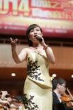著名女性女高音huangwei 库存照片
