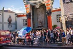 著名好莱坞大道 在洛杉矶 免版税库存照片