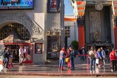 著名好莱坞大道 在洛杉矶 免版税图库摄影
