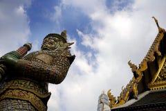 著名宗教寺庙wat phra prakaew盛大宫殿看法在曼谷泰国 库存图片