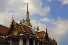 著名宗教寺庙wat phra prakaew盛大宫殿看法在曼谷泰国 免版税库存照片