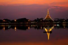 著名寺庙在KhonKaen, Wat Hnong Wang泰国 免版税图库摄影