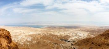 著名岩石马萨达登上的侧视图,以色列 库存图片
