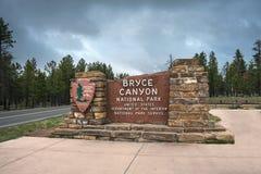 著名布里切峡谷国家公园在犹他 免版税库存照片