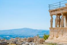 著名希腊人雅典娜耐克寺庙在希腊 免版税库存图片