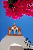 著名希腊海岛santorini 免版税库存照片