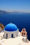 著名希腊santorini 图库摄影