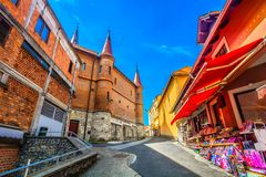 著名建筑学在玛丽亚Bistrica,克罗地亚 免版税库存照片