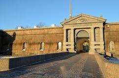 著名彼得和保罗堡垒 库存照片