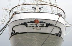 著名德国帆船Gorch Fock 库存照片