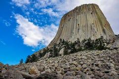 著名恶魔的塔,怀俄明,美国 库存图片
