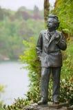 著名挪威作曲家爱德华・格里格的雕塑在Troldhaugen在卑尔根,挪威 免版税库存图片