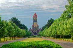 著名教堂复合体在南公墓在莱比锡,德国 免版税库存图片