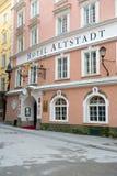 著名旅馆Alstatd看法  免版税库存图片