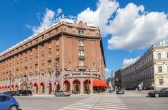 著名旅馆Astoria在圣彼德堡,俄罗斯 免版税库存照片