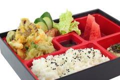 著名日本人Bento箱子 免版税库存照片