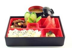 著名日本人Bento箱子 免版税图库摄影